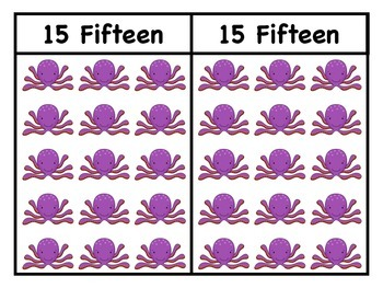 Numbers flashcards/Go Fish/Memory Game