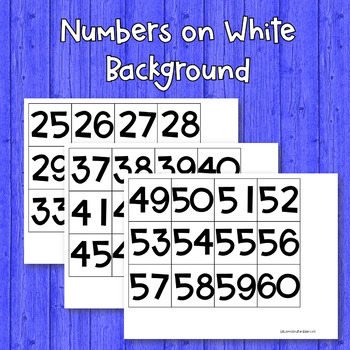 Numbers for Hundreds Pocket Chart-Freebie