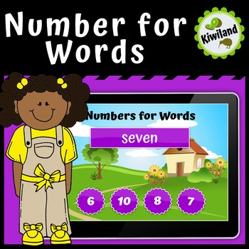 Numbers for Words - Boom Learning Cards