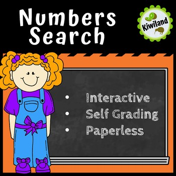 Numbers for Words Search - Boom Learning Cards