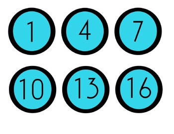 Numbers for cubbies