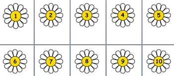 Numbers from 1- 10 (daisy)