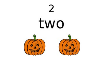Numbers from 1-20 - one (1) and with pictures