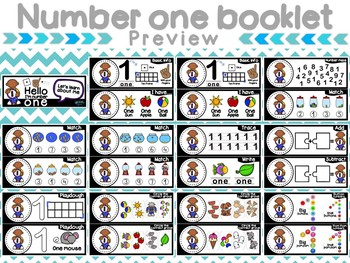 Numbers from 1 - 5 Booklets