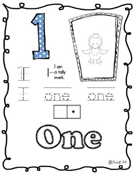 Numbers from 1 to 10 practice sheets
