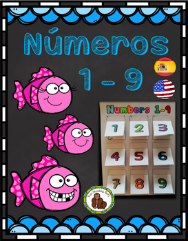 Numbers from 1 to 9. Números del 1 al 9