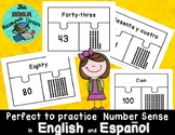 Numbers from 41 to 100 in English and Spanish