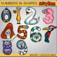 Numbers in Animal Shapes- Number Clipart