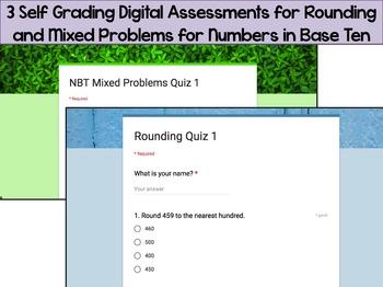 Numbers in Base Ten Digital Assessments Bundle: Self-Grading Google Forms