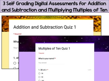 Numbers in Base Ten Digital Self Grading Assessments