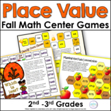 Place Value Games for Autumn Second Grade and Third Grade