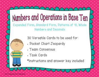 Numbers in Base Ten Game Cards