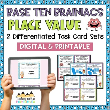 Numbers in Base Ten Place Value Task Cards { Common Core & Differentiated }