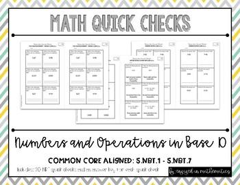 Numbers in Base Ten Quick Checks (5th Grade Common Core Al