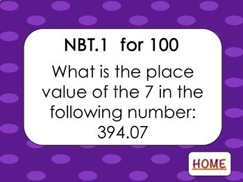Numbers in Base Ten Review Game (Jeopardy)