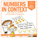Numbers in Context, Word Problem Prompts: Talking Numbers