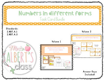 Numbers in Different Ways Task Cards Bundle