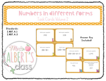 Numbers in Different Ways Task Cards (Volume 2)