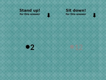 Numbers in English Stand up Sit down