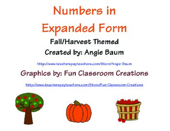 Numbers in Expanded Form Matching Game