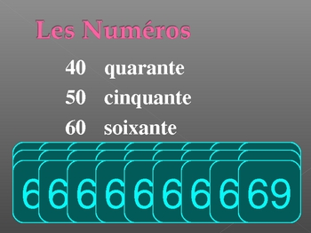 Numéros (Numbers in French) PowerPoint