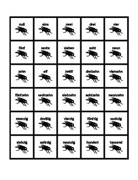 Zahlen (Numbers in German) Slap game