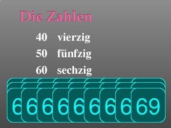Zahlen (Numbers in German) PowerPoint