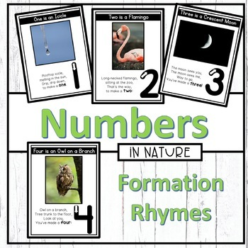 Numbers in Nature Formation Rhymes (Number Writing)