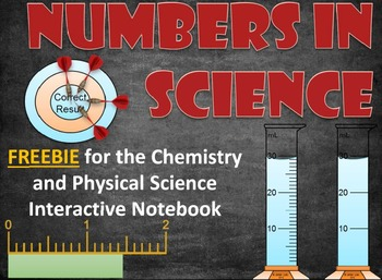Numbers in Science FREEBIE for the Chemistry Interactive Notebook & Lapbook