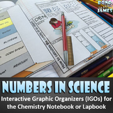 Numbers in Science for the Chemistry Interactive Notebook & Lapbook
