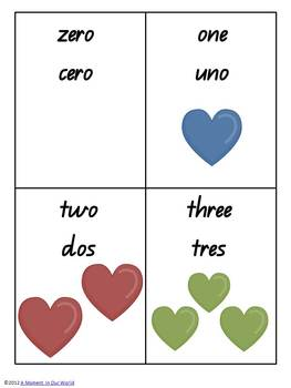Numbers in Spanish 0 to 20