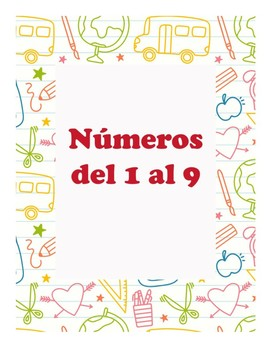 Numbers in Spanish 1 to 9