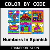 Numbers in Spanish - Color by Code / Coloring Pages - Tran