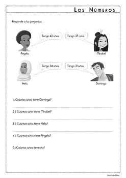Numbers in Spanish - Los Números 10-100 - Activity Pack