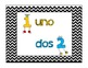 Numbers in Spanish Poster Set (Chevron Style)