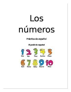 Numbers in Spanish (los números en español) 0-100