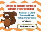 Numbers in Word Form and Place Value Anchor Charts {Spanish} [Dual Immersion]