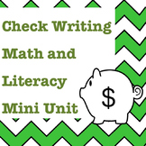 Numbers in Word Form and Check Writing Math and Literacy Mini Unit Activities