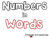 Numbers in Words Anchor Chart