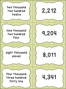 Numbers in Written Form Matching Cards - 3 Sets - Perfect for Games and Centers