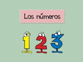 Numbers in spanish - Los numeros 1-31