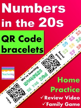 Numbers in the 20s Homework {Bracelet with review video & family game}