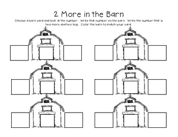 Numbers in the Barn - Finding 1,2, and 10 More and Less