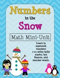 Numbers in the Snow: Math Mini Unit- count numbers 1-20 in tallies & ten frames