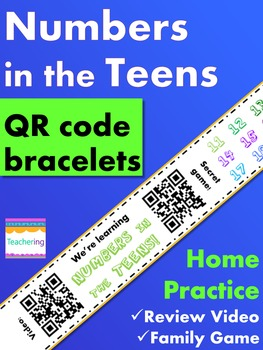 Numbers in the Teens Homework {Bracelet with review video & family game}