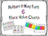 Numbers in Word Form and Place Value Charts!