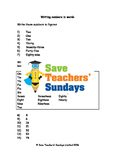 Numbers in words worksheets (4 levels of difficulty) 2nd to 4th grade