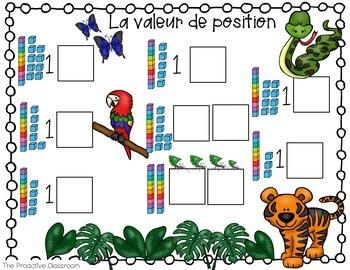 Les nombres jusquà 20 / French Number Tiles Numbers to 20