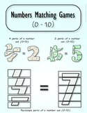 Numbers matching games and puzzles for kindergarten & firs