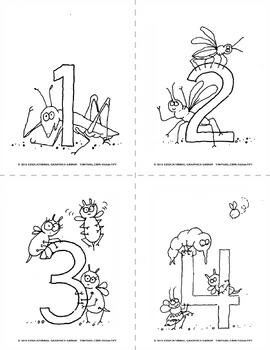 "Numbers of Bugs - 4.25"" x 5.5"" BUNDLE"